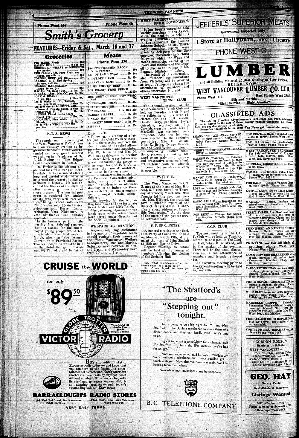West Van. News (West Vancouver), 15 Mar 1934