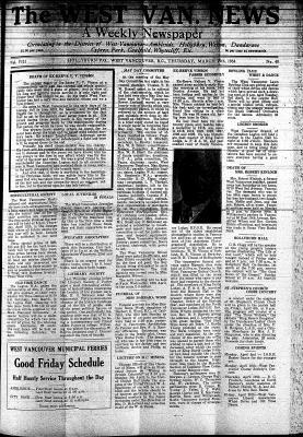 West Van. News (West Vancouver), 29 Mar 1934