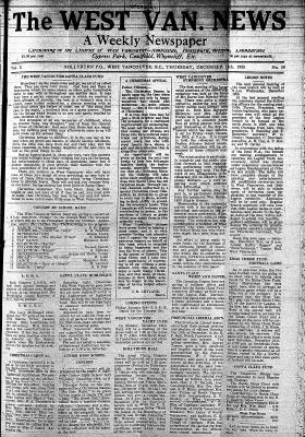 West Van. News (West Vancouver), 12 Dec 1935