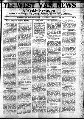 West Van. News (West Vancouver), 14 Feb 1935