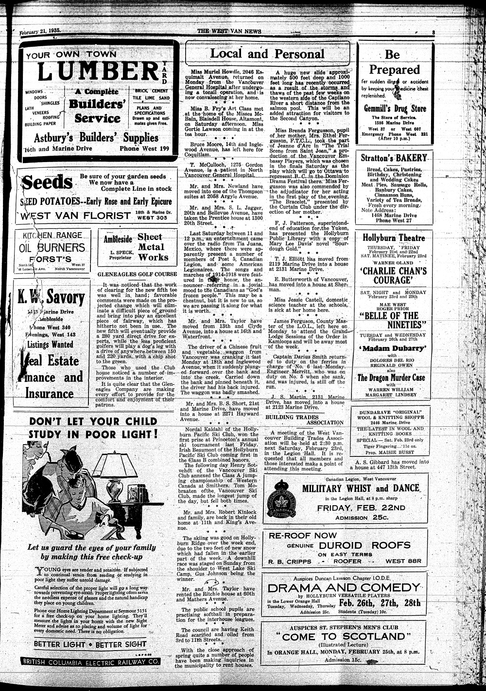 West Van. News (West Vancouver), 21 Feb 1935