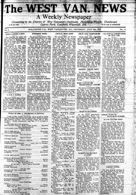 West Van. News (West Vancouver), 4 Jul 1935