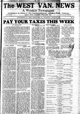 West Van. News (West Vancouver), 27 Jun 1935
