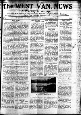 West Van. News (West Vancouver), 7 Mar 1935