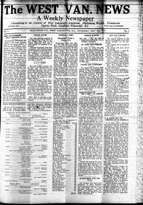 West Van. News (West Vancouver), 16 May 1935