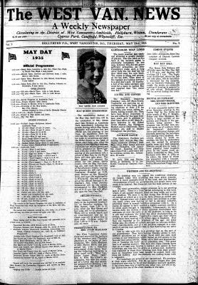 West Van. News (West Vancouver), 23 May 1935