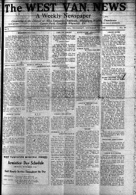 West Van. News (West Vancouver), 7 Nov 1935