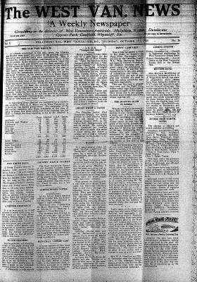 West Van. News (West Vancouver), 17 Oct 1935