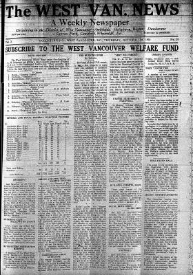 West Van. News (West Vancouver), 31 Oct 1935