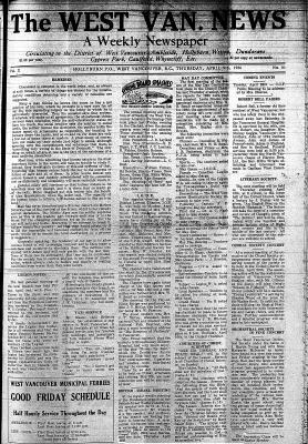 West Van. News (West Vancouver), 9 Apr 1936