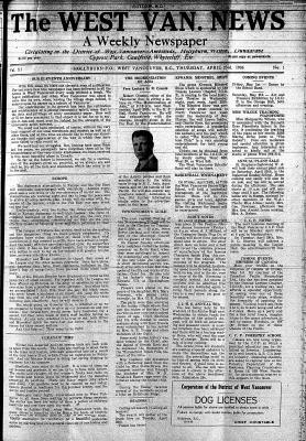West Van. News (West Vancouver), 23 Apr 1936