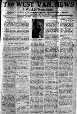 West Van. News (West Vancouver), 10 Dec 1936