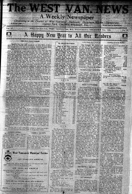 West Van. News (West Vancouver), 31 Dec 1936