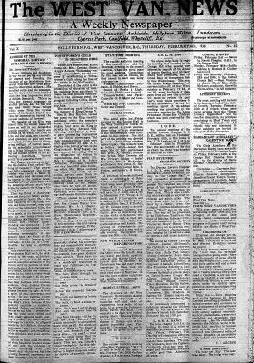 West Van. News (West Vancouver), 6 Feb 1936