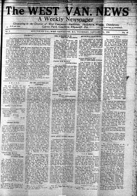 West Van. News (West Vancouver), 9 Jan 1936