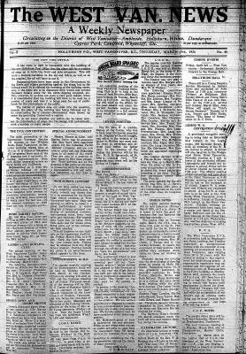 West Van. News (West Vancouver), 19 Mar 1936