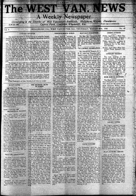 West Van. News (West Vancouver), 26 Mar 1936
