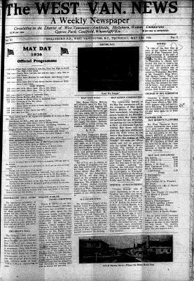 West Van. News (West Vancouver), 21 May 1936