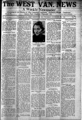 West Van. News (West Vancouver), 19 Nov 1936