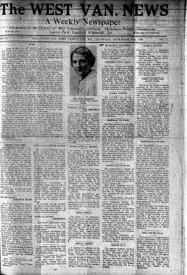 West Van. News (West Vancouver), 26 Nov 1936
