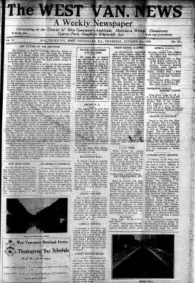 West Van. News (West Vancouver), 8 Oct 1936