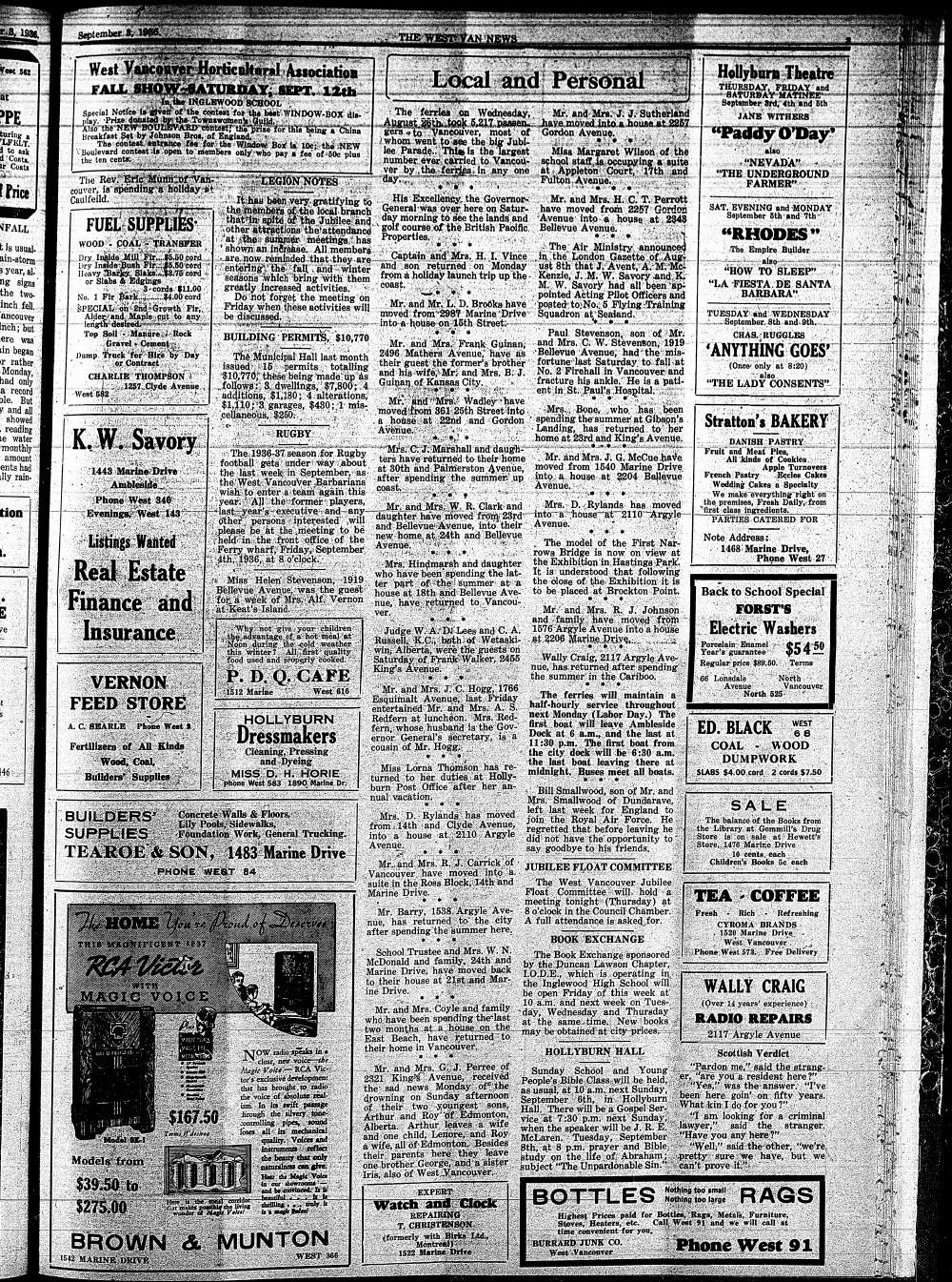West Van. News (West Vancouver), 3 Sep 1936