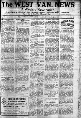 West Van. News (West Vancouver), 9 Jul 1936