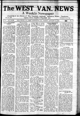 West Van. News (West Vancouver), 15 Jan 1932