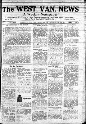 West Van. News (West Vancouver), 10 Apr 1931