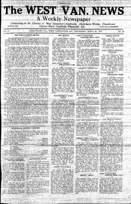 West Van. News (West Vancouver), 1 Apr 1937