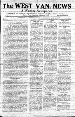 West Van. News (West Vancouver), 8 Apr 1937