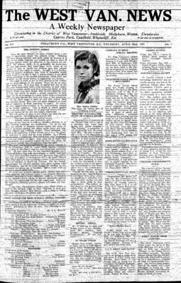 West Van. News (West Vancouver), 22 Apr 1937