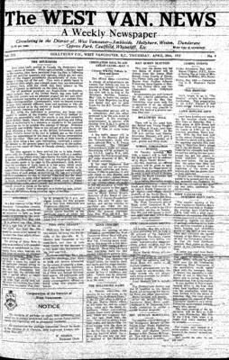 West Van. News (West Vancouver), 29 Apr 1937