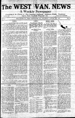 West Van. News (West Vancouver), 12 Aug 1937