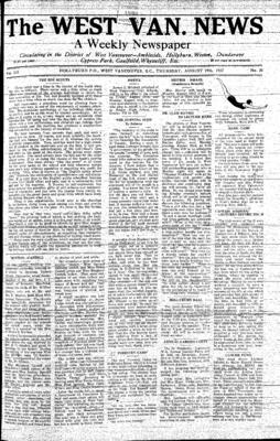 West Van. News (West Vancouver), 19 Aug 1937