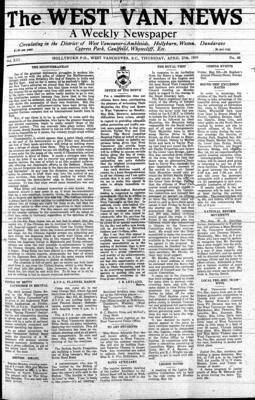 West Van. News (West Vancouver), 27 Apr 1939