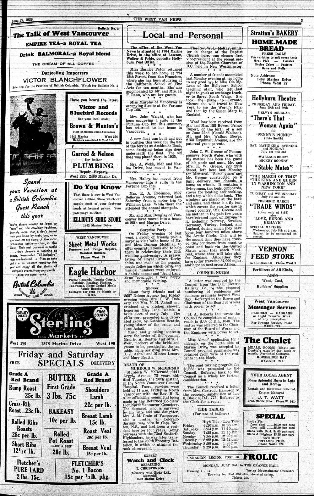 West Van. News (West Vancouver), 29 Jun 1939