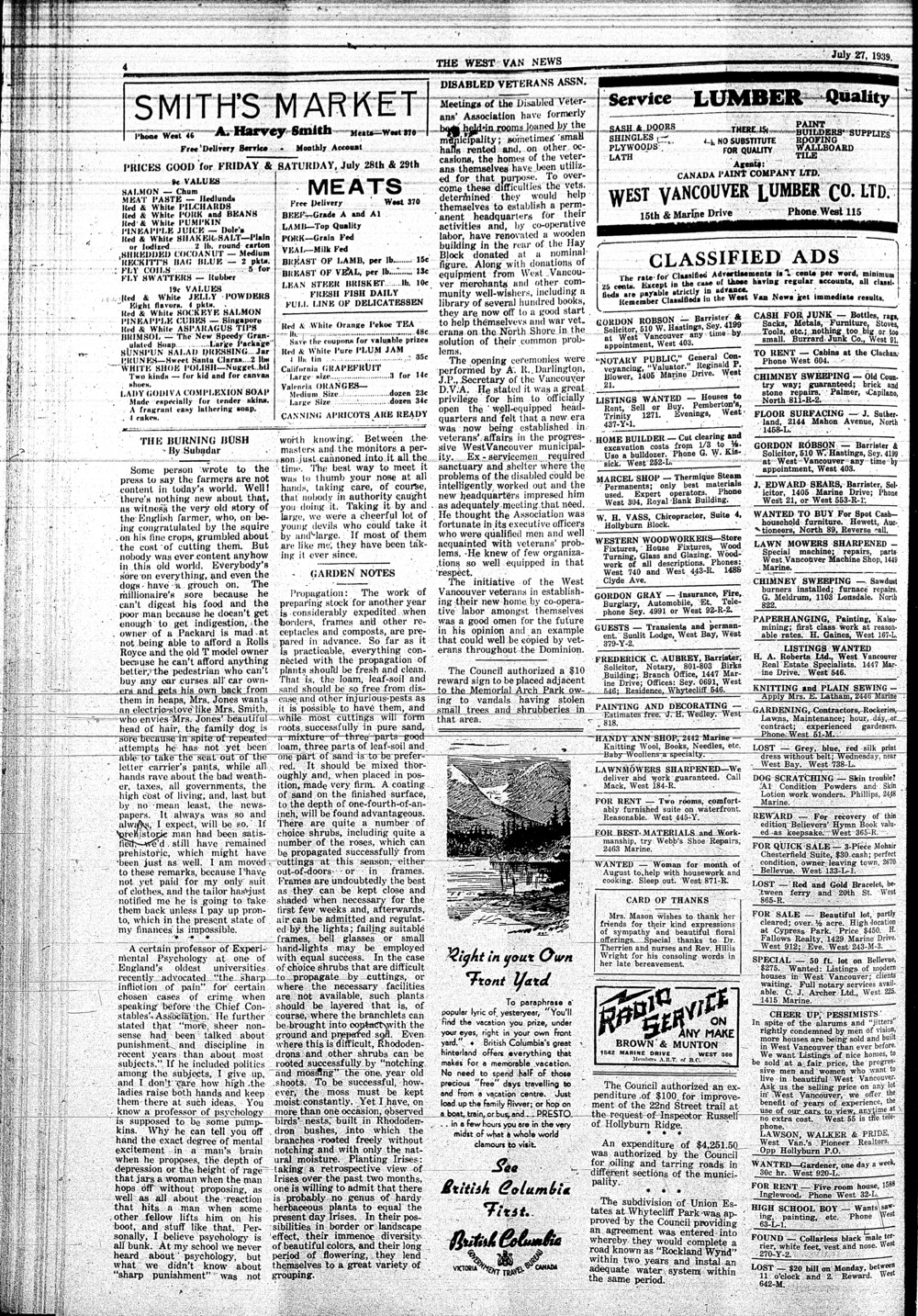 West Van. News (West Vancouver), 27 Jul 1939