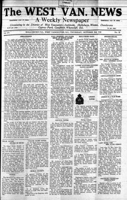 West Van. News (West Vancouver), 3 Oct 1940
