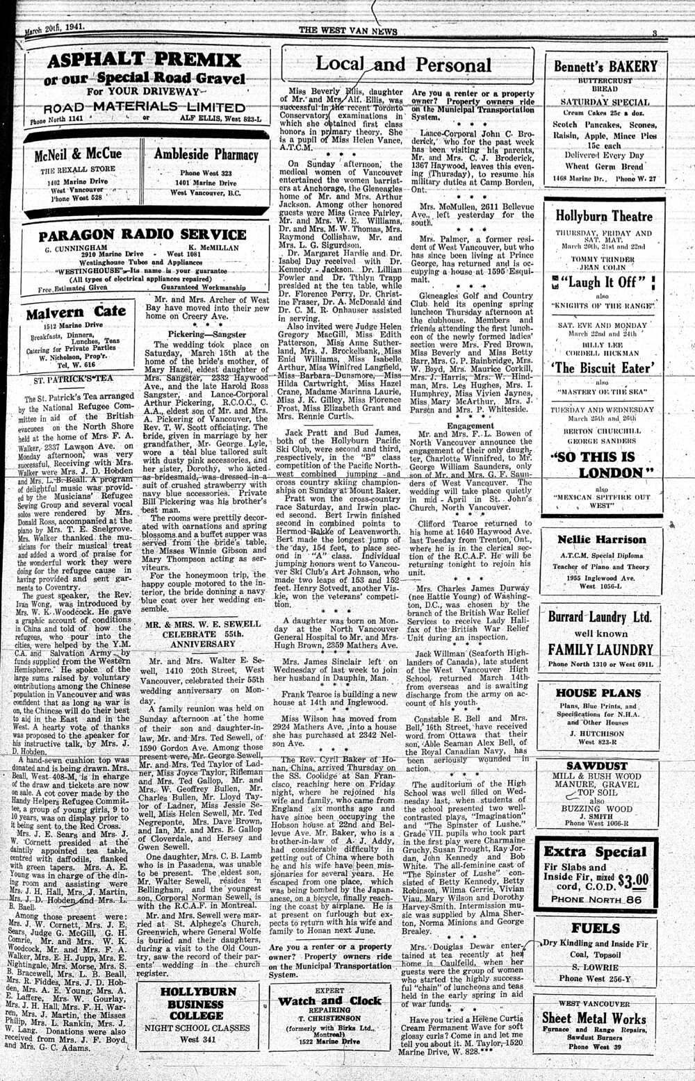 West Van. News (West Vancouver), 20 Mar 1941