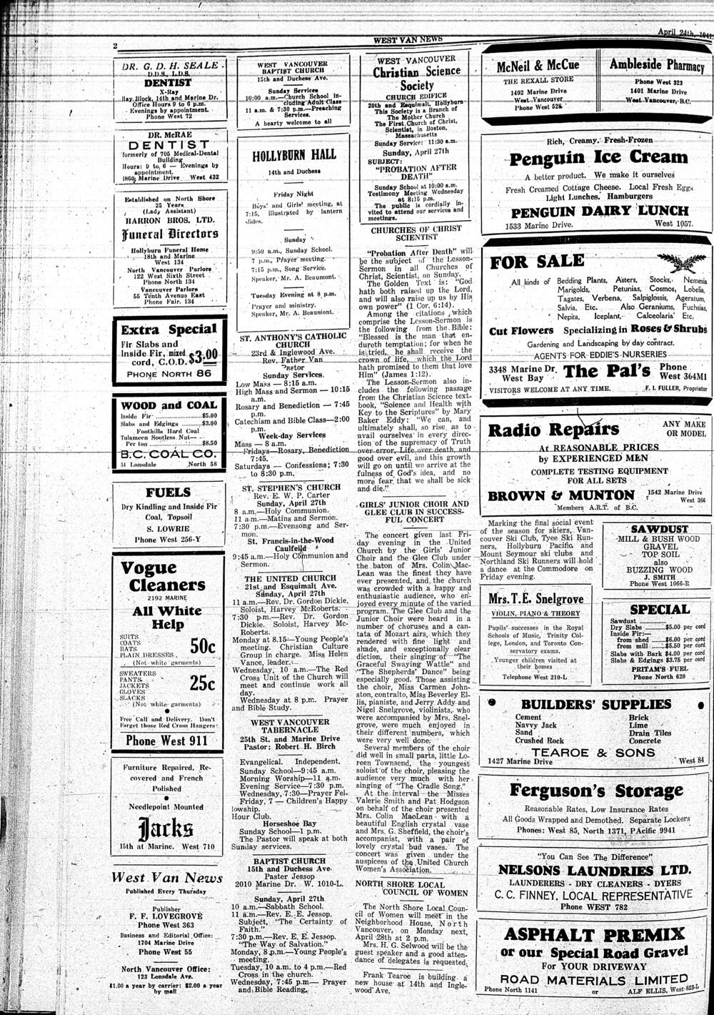 West Van. News (West Vancouver), 24 Apr 1941
