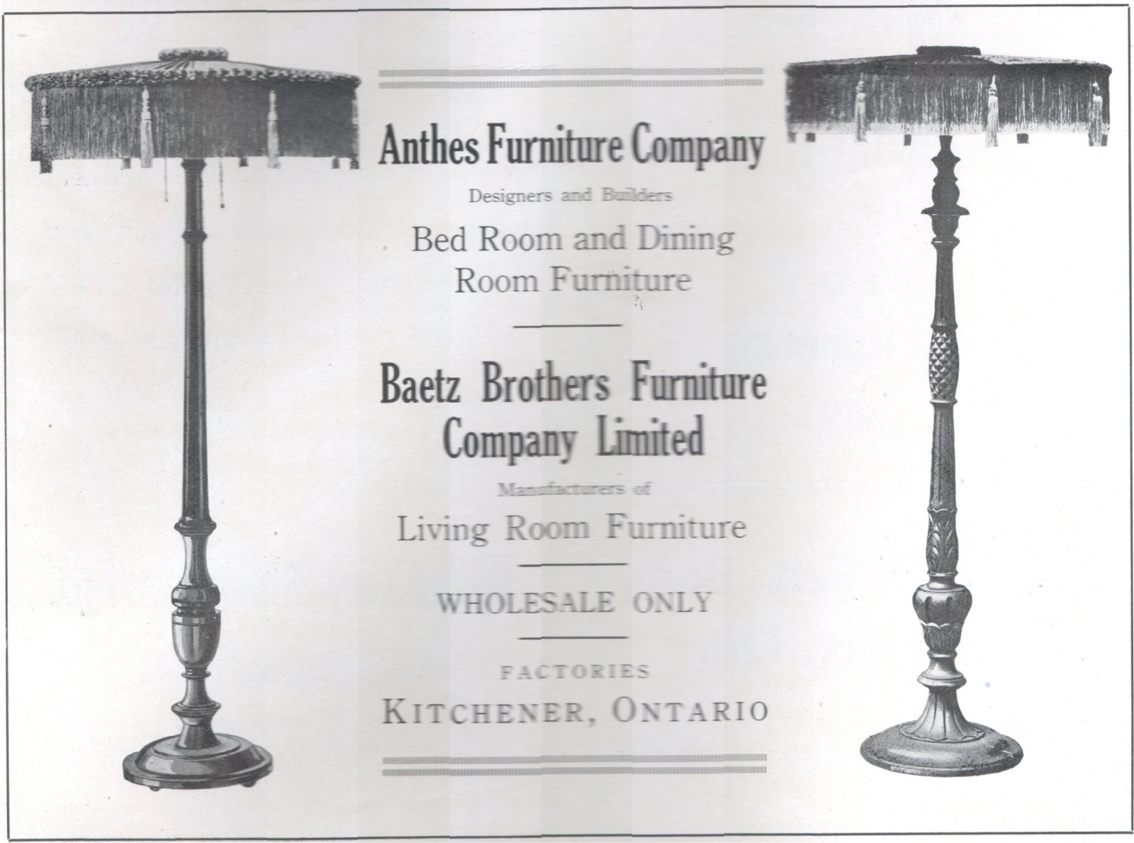 Kitchener Waterloo Furniture Anthes The Baetz Bros Furniture Companies Ad View Peace