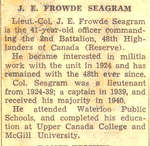 "World War II Article-""J.E. Frowde Seagram"""