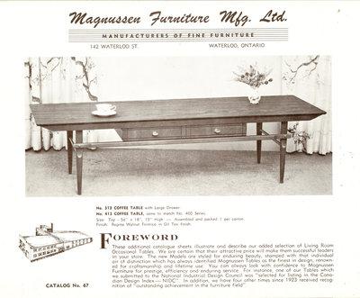 Magnussen Furniture Company, Waterloo, Ontario