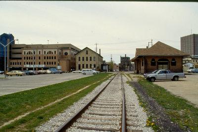 Railroad tracks in Uptown Waterloo