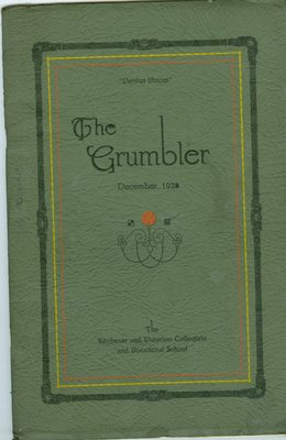 KCI Grumbler Year book, December 1925