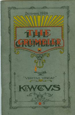 KCI Grumbler Year book, December 1926