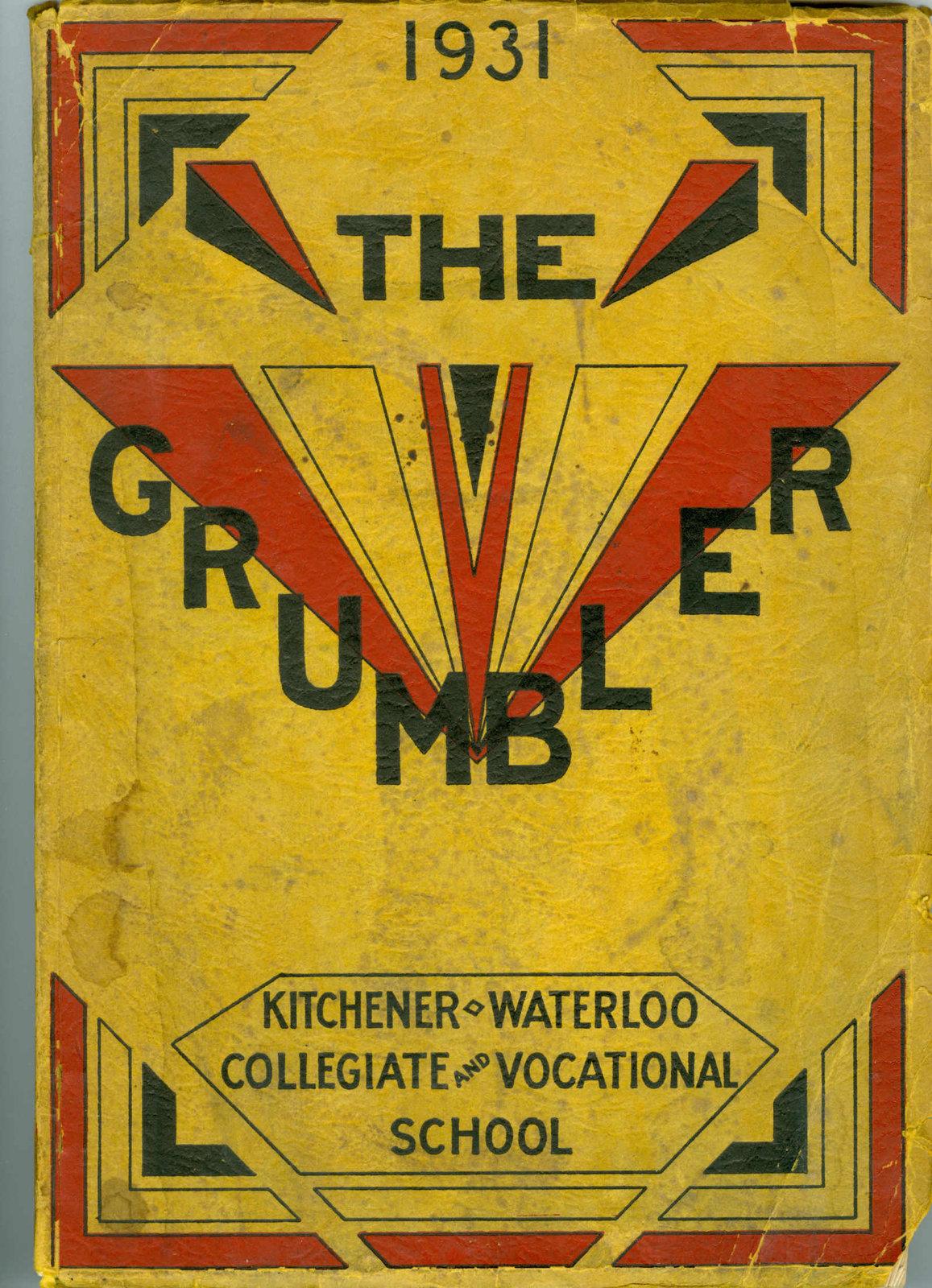 KCI Grumbler Year book, 1931