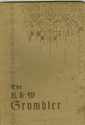 KCI Grumbler Year book, 1933