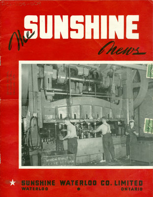 Sunshine Waterloo Company Sunshine News newsletter, August/September 1943